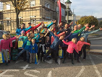 For the children, there was a prize draw at the opening of the Energy Trail. © Gabriele Fahrafellner - Energiegruppe Hafnerbach